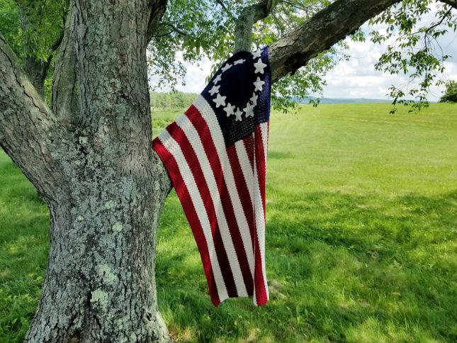 Old Glory American Flag Afghan