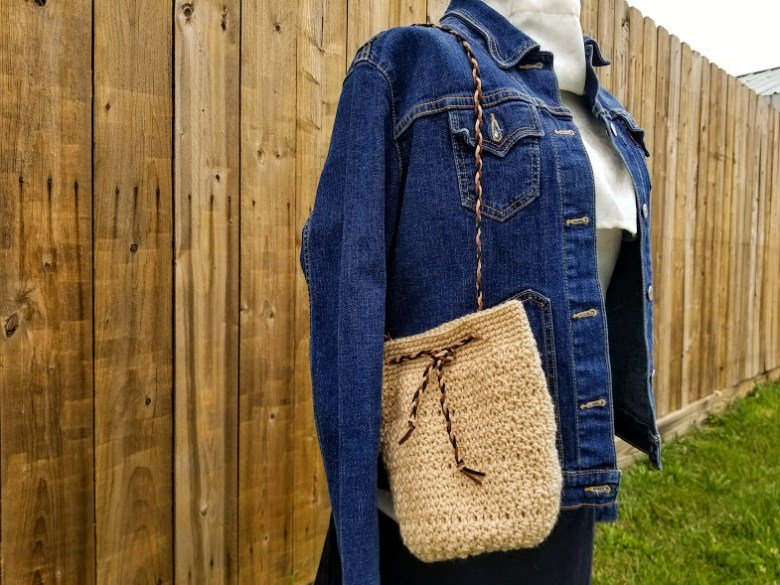 Boho Braided Bucket Bag