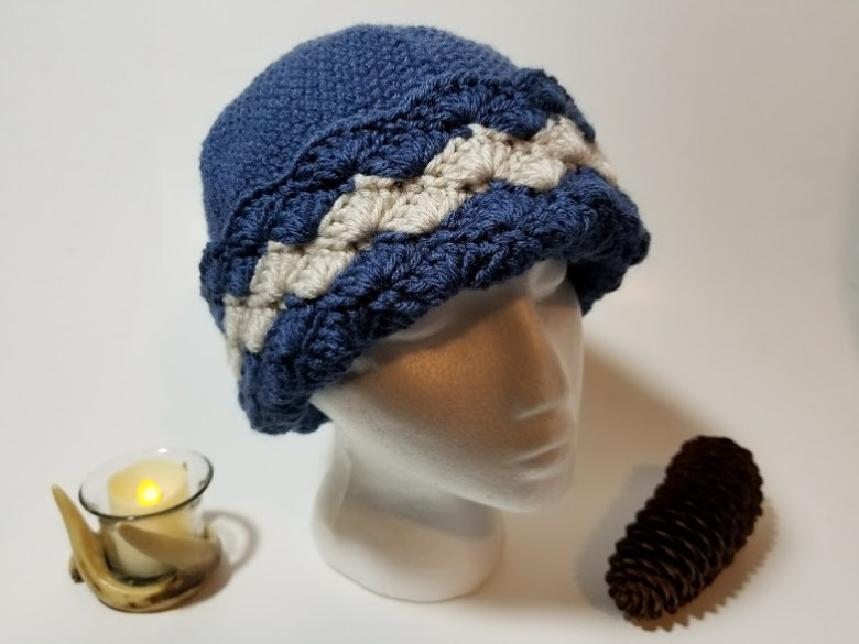 wavy shells hat