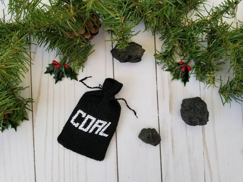 bag of coal ornament