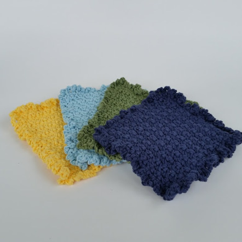 12 Colorful Free Washcloth Patterns