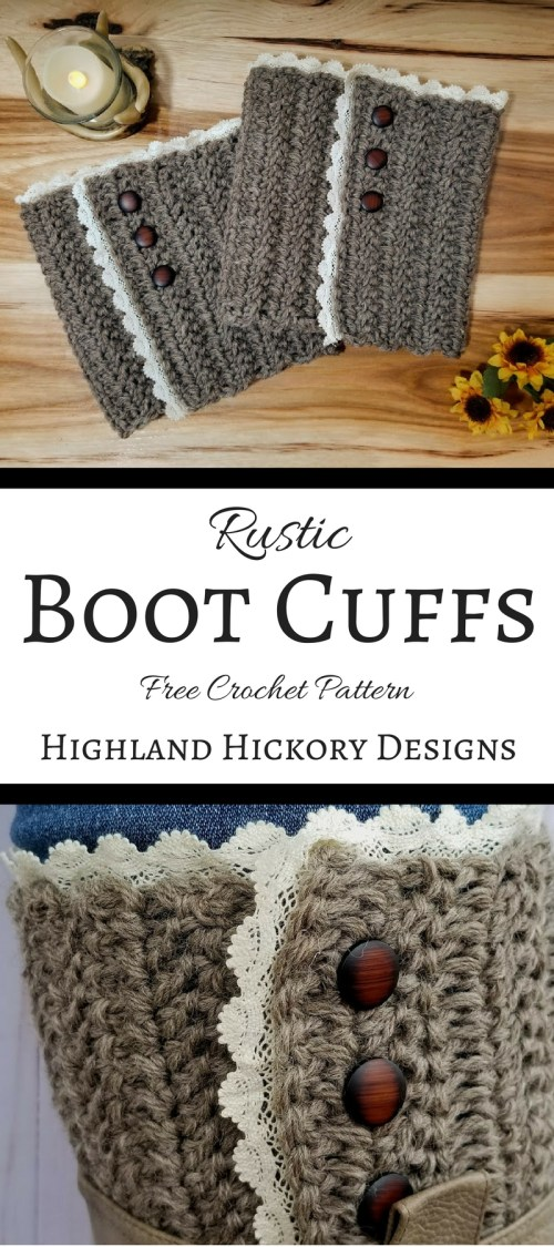 rustic boot cuffs pin for pinterest