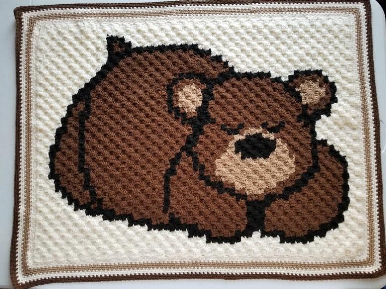 Teddy Bear Crochet Blanket Pattern | Free Crochet Blanket Patterns | 585x780