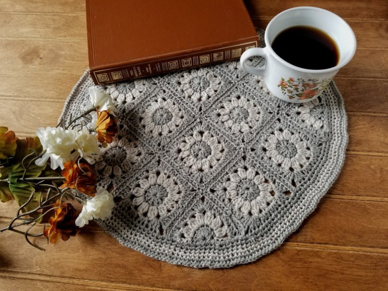 Floral Table Mat Free Crochet Pattern Highland Hickory Designs