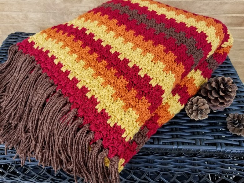 Fall Foliage Afghan Highland Hickory Designs Free Crochet Pattern