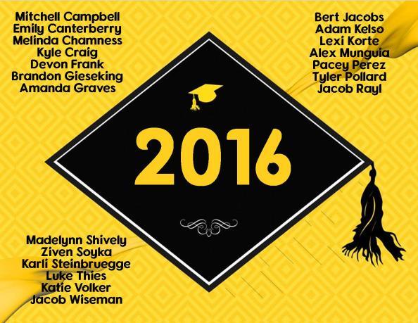 2016 graduates slide