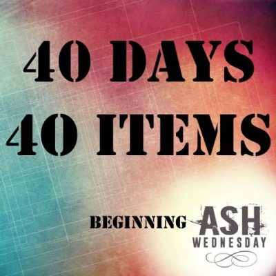 40 days 40 items web