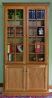 Custom Woodcraft Bookcase Options
