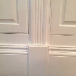 Chair Rail Upside Down Best Posture Work August 2018 Custom Cabinet And Bookcase Design Blog Placed On Top The Second Photo Shows Rosette Block At Of Fluted Moulding With Base Each