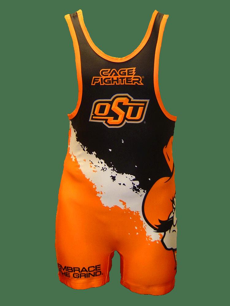 Cage Fighter 2015 NCAA Oklahoma Splatter Singlet