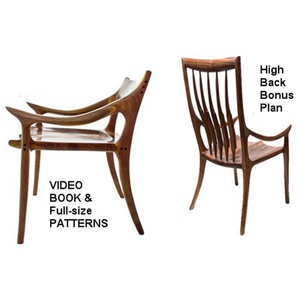 Maloof Low Back Chair Plans