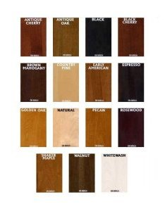 also general finishes water based wood stains color chart rh highlandwoodworking