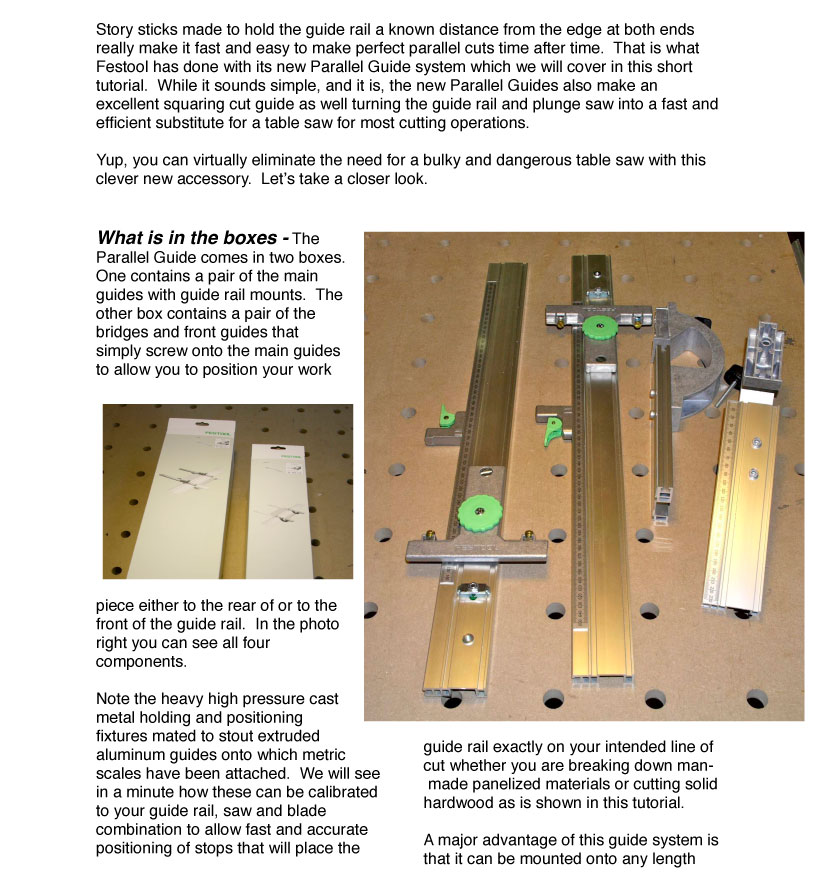 Festool Parallel Guides Review