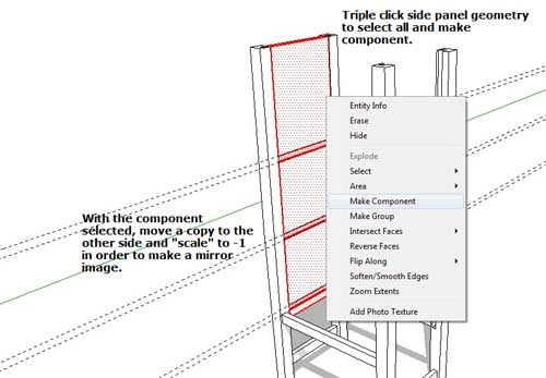 Model a No. 72 Gustav Stickley Bookcase with SketchUp