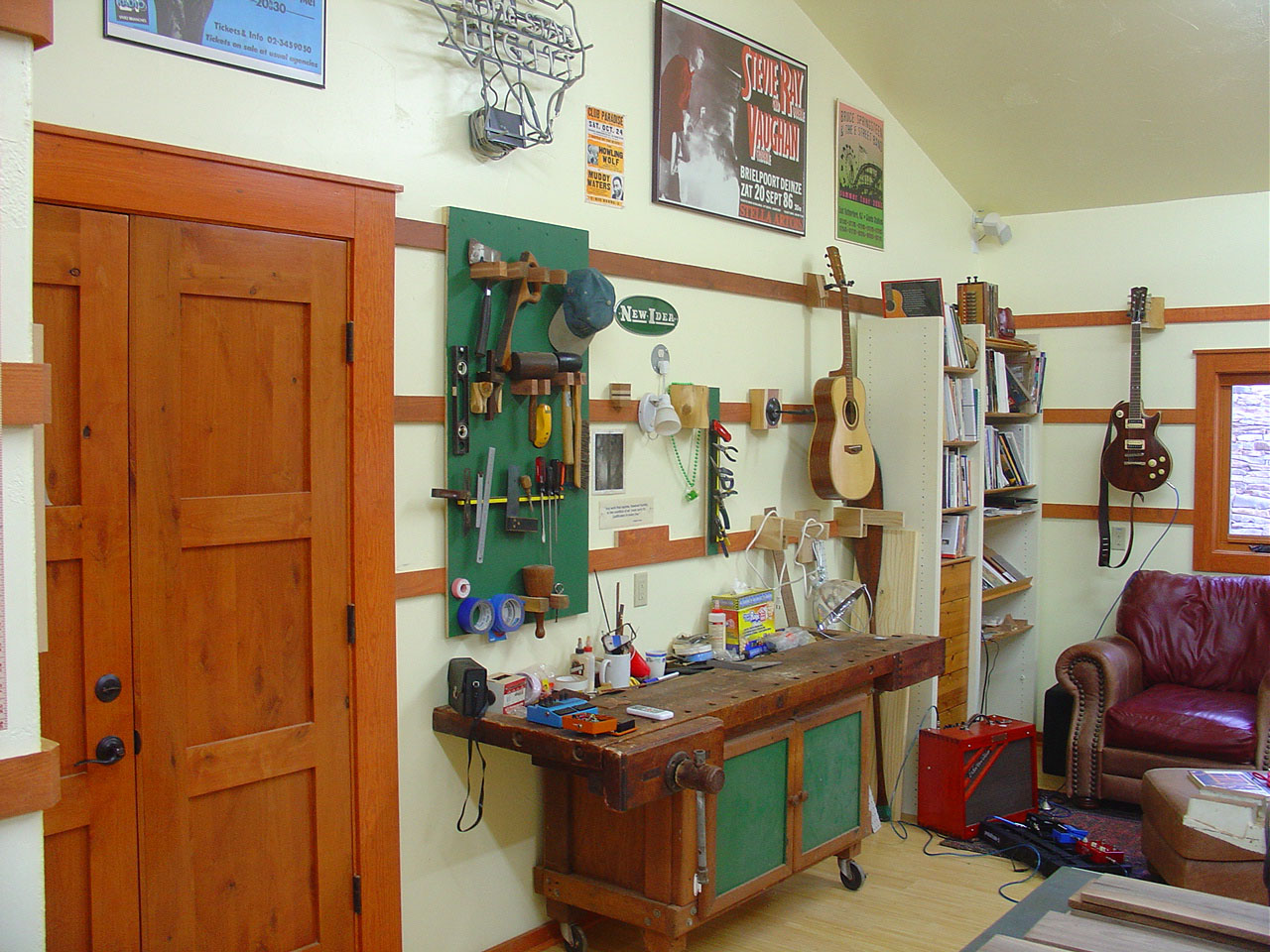 Workshop Organization  Shaker peg rails