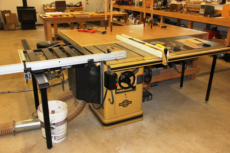 Benchtop Jointer Extension Table