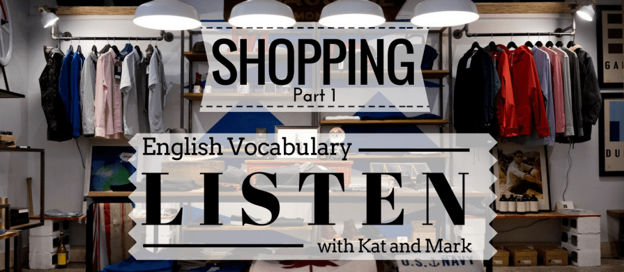 English Listening Practice Shopping Vocabulary 1