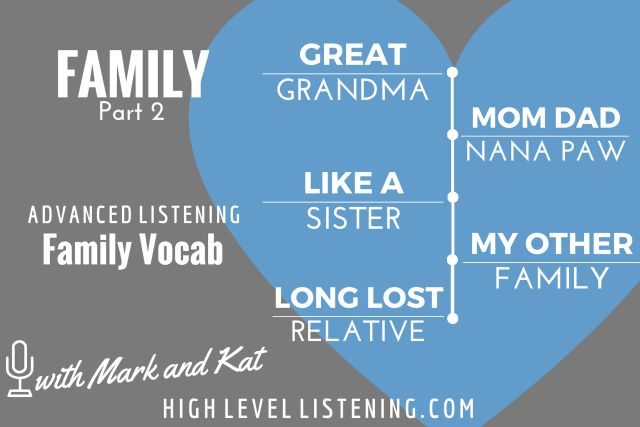Advanced ESL listening Practice for Adults Family Vocabulary 2