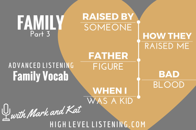 Advanced ESL listening Practice for Adults Family Vocabulary 3