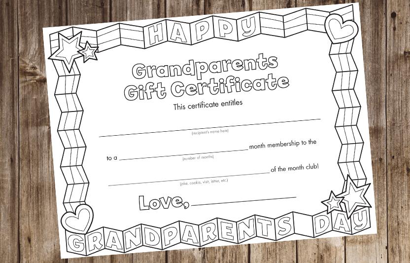 Grandparent S Day Certificate Highlights For Children