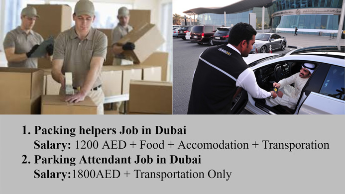 Urgently Required Parking Attendant Packing Helpers for