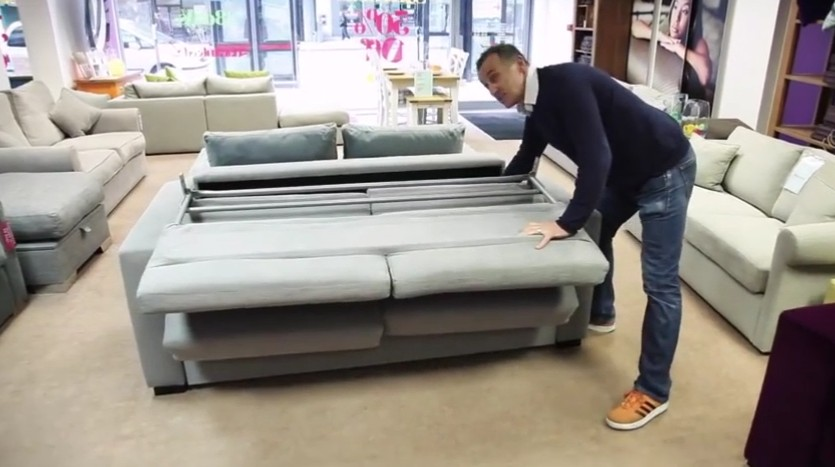 sofa bed next day delivery london denim set highly sprung sofas
