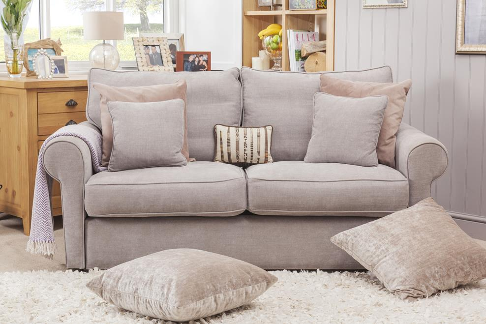 sofa bed next day delivery london fabric material wholesale highly sprung sofas
