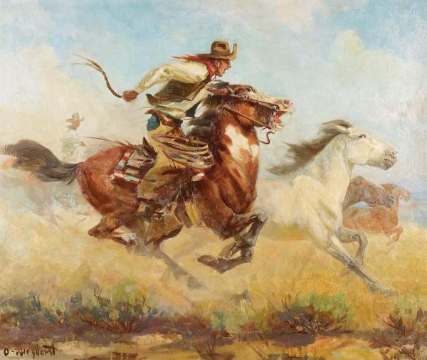 Olaf Wieghorst Western Painting