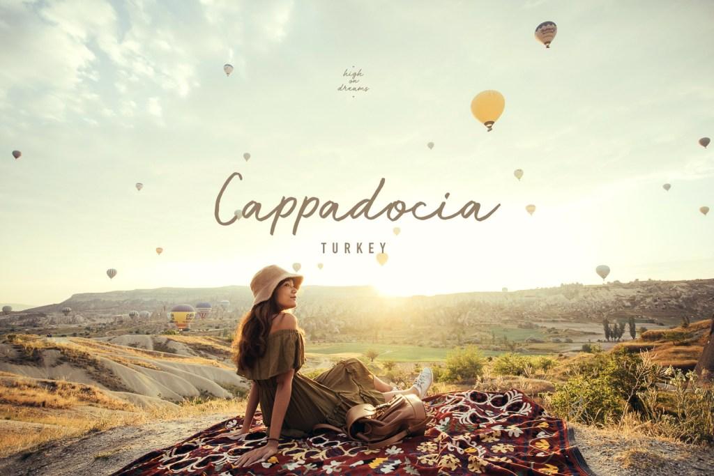 hot air balloon in cappadocia in turkey