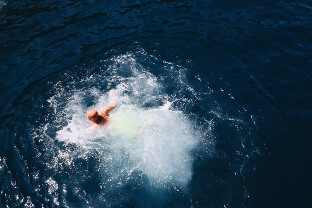 swimming in Marmaris, Mediterranean sea, Turkey