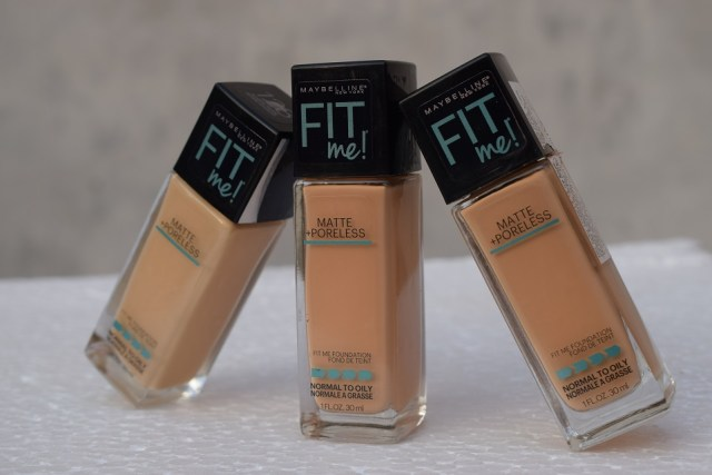 maybelline fit foundation 310 , 230, 128
