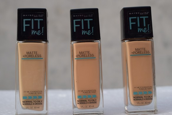 maybelline fit foundation 310 , 230, 128 (2)