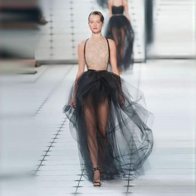 Tulle Skirt on Runways