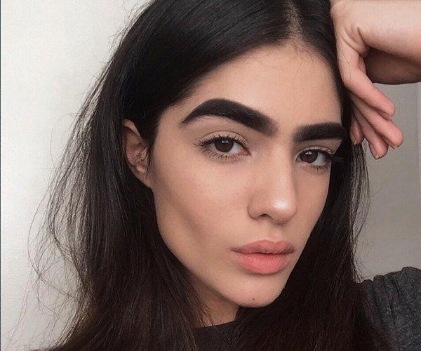 bushy eyebrows