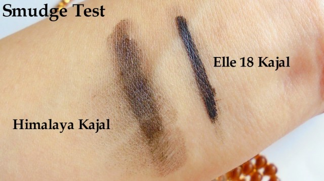 Elle 18 Eye Drama Kajal Bold Black VS Himalya Herbals Kajal - Smudged