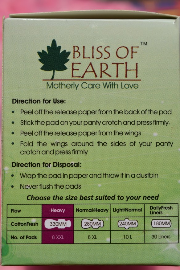 Bliss Of Earth CottonFresh Sanitary Napkin - How To Use