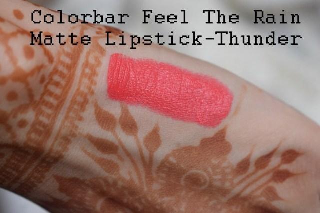 Colorbar Feel The Rain Matte Lipstick 001 Thunder (7)