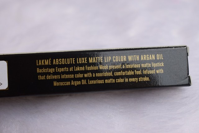 Lakme Absolute Luxe Matte Lip Color With Argan Oil