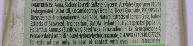 fiama Di Wills Lemongrass & Jojoba Shower Gel - Ingredients