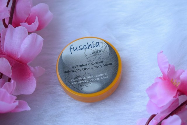 Fuschia Activated Charcoal Detoxifying Face & Body Scrub (3)