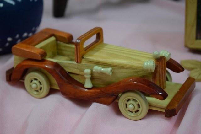 Antique Car Replica In Wood