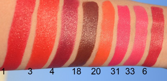 NELF 9am To 6pm All Day Long Lipstick - Swatches
