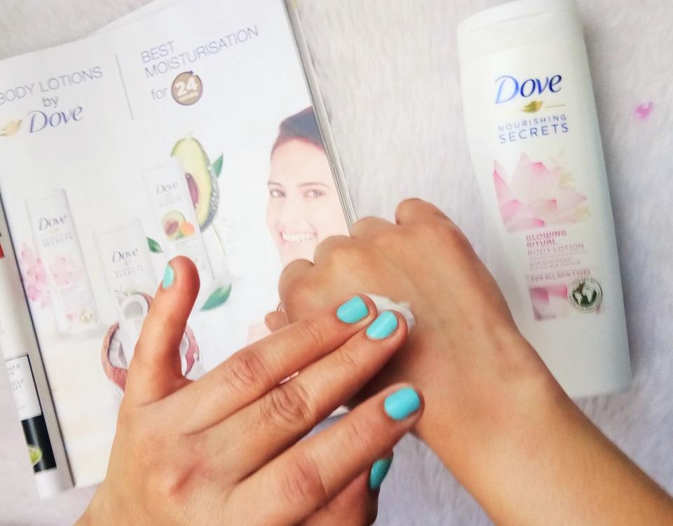 Dove Nourishing Secrets Glowing Ritual Body Lotion Review High On Gloss