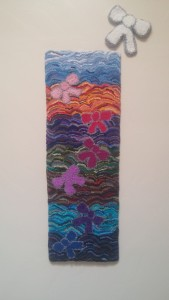 "Finished project: ""Ribbons Over Albuquerque."""