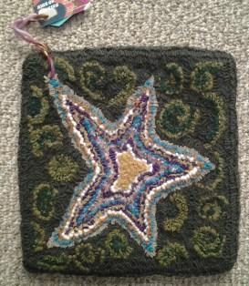 """Star""; 14""x14""; $75; Wool, poly, ribbon"