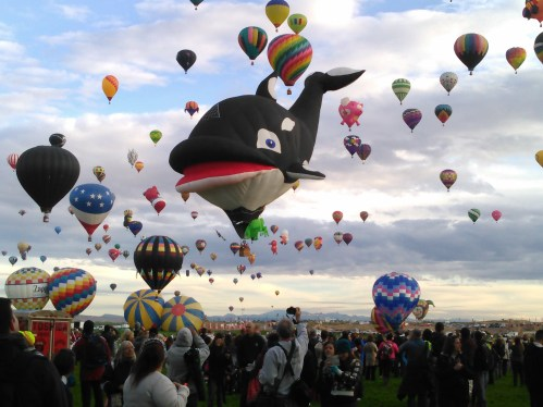 Mass ascension at Balloon Fiesta 2015. Have you ever seen so many balloons in one place?