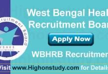 West Bengal Health Recruitment Board (WBHRB) Recruitment