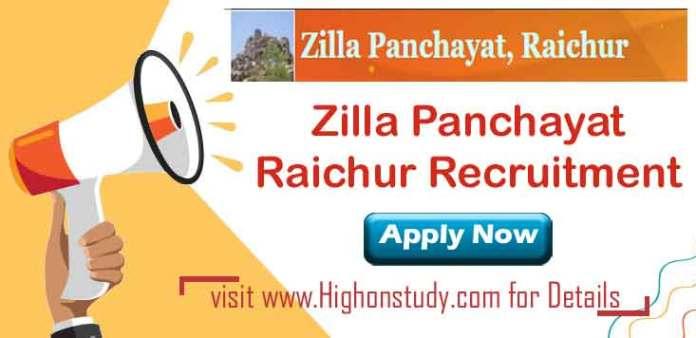 Zilla Panchayat, Raichur JObs