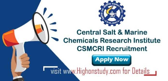 Central Salt & Marine Chemicals Research Institute jobs