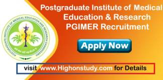 Postgraduate Institute of Medical Education & Research Jobs